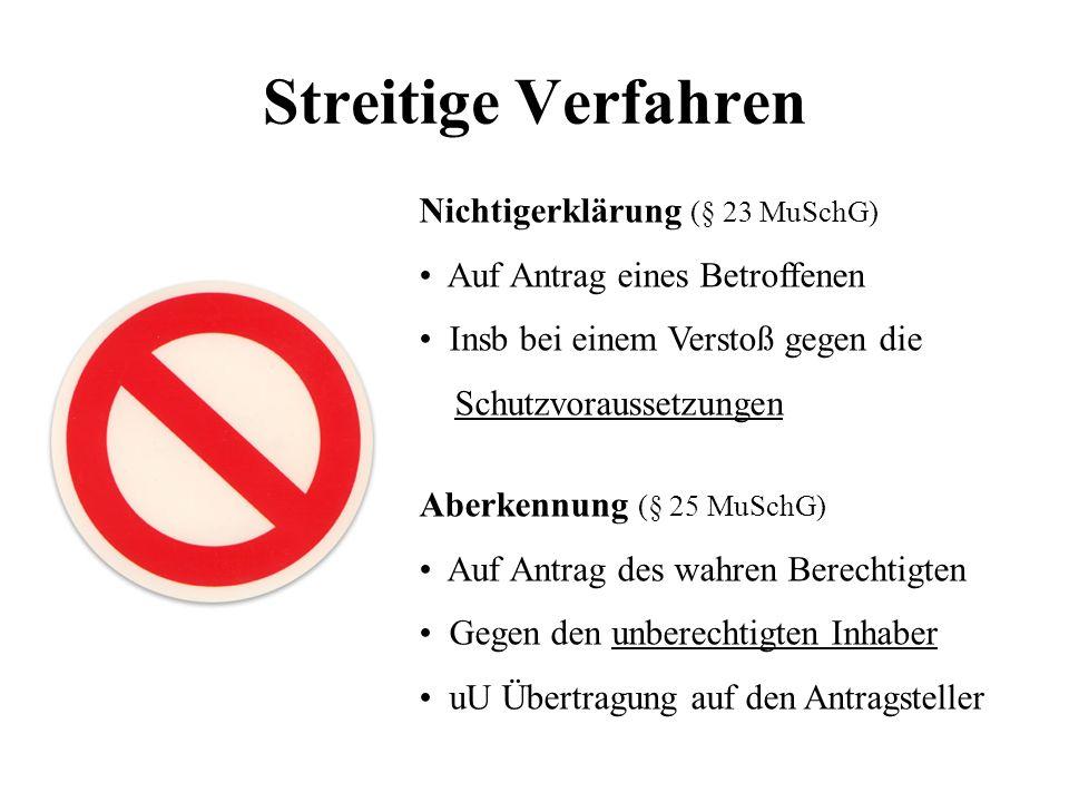 Streitige Verfahren Nichtigerklärung (§ 23 MuSchG) Auf Antrag eines Betroffenen Insb bei einem Verstoß gegen die Schutzvoraussetzungen Aberkennung (§