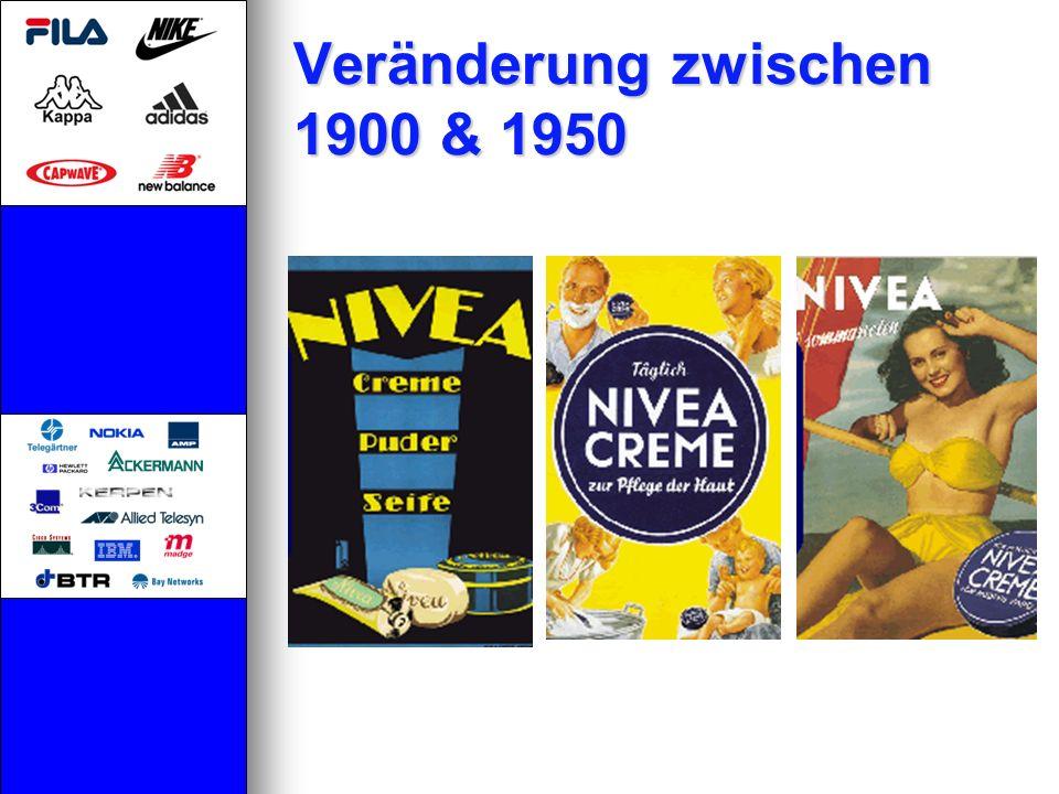 Veränderung zwischen 1900 & 1950