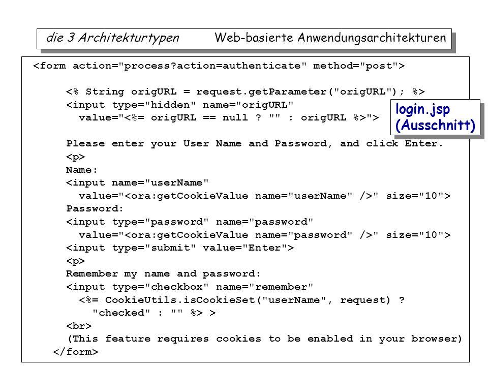 iTec 37 die 3 Architekturtypen Web-basierte Anwendungsarchitekturen <input type=