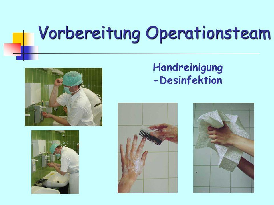 Vorbereitung Operationsteam Handreinigung -Desinfektion