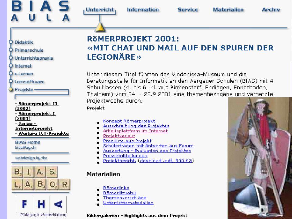 ETH Zürich, 09.11.02 © Lukas Müller 15 Unterrichten mit Neuen Medien eduNET.02 Römerprojekt.01 «Mit Chat und Mail auf den Spuren römischer Legionäre»
