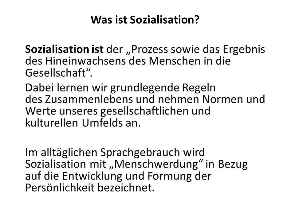 Was ist Sozialisation.