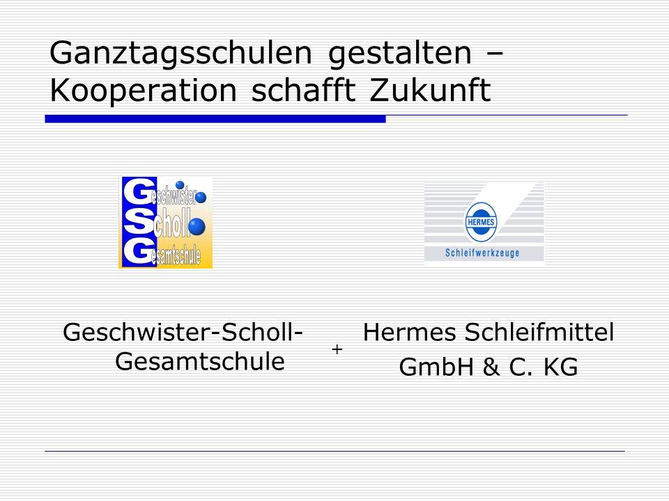 Ganztagsschulen gestalten – Kooperation schafft Zukunft Geschwister-Scholl- Gesamtschule Hermes Schleifmittel GmbH & C. KG +