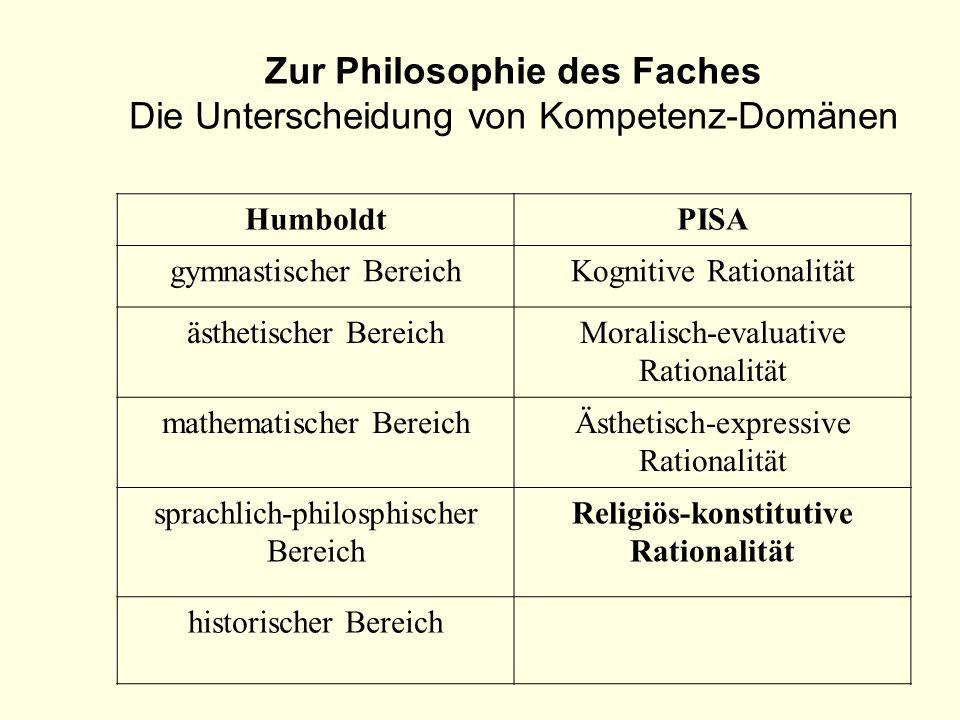 HumboldtPISA gymnastischer BereichKognitive Rationalität ästhetischer BereichMoralisch-evaluative Rationalität mathematischer BereichÄsthetisch-expres