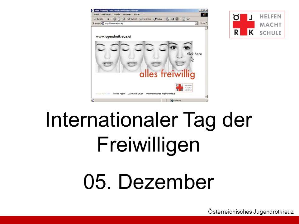 Österreichisches Jugendrotkreuz Internationaler Tag der Freiwilligen 05. Dezember