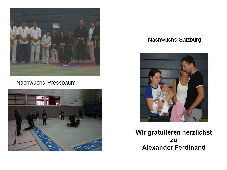 Nachwuchs Salzburg Wir gratulieren herzlichst zu Alexander Ferdinand Nachwuchs Pressbaum