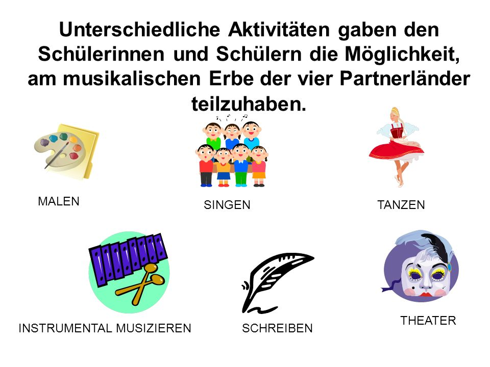 Comenius Projekt Notes of Harmony - exploring and sharing our cultural identities by interpreting our musical heritages Noten voller Harmonie - Erfors