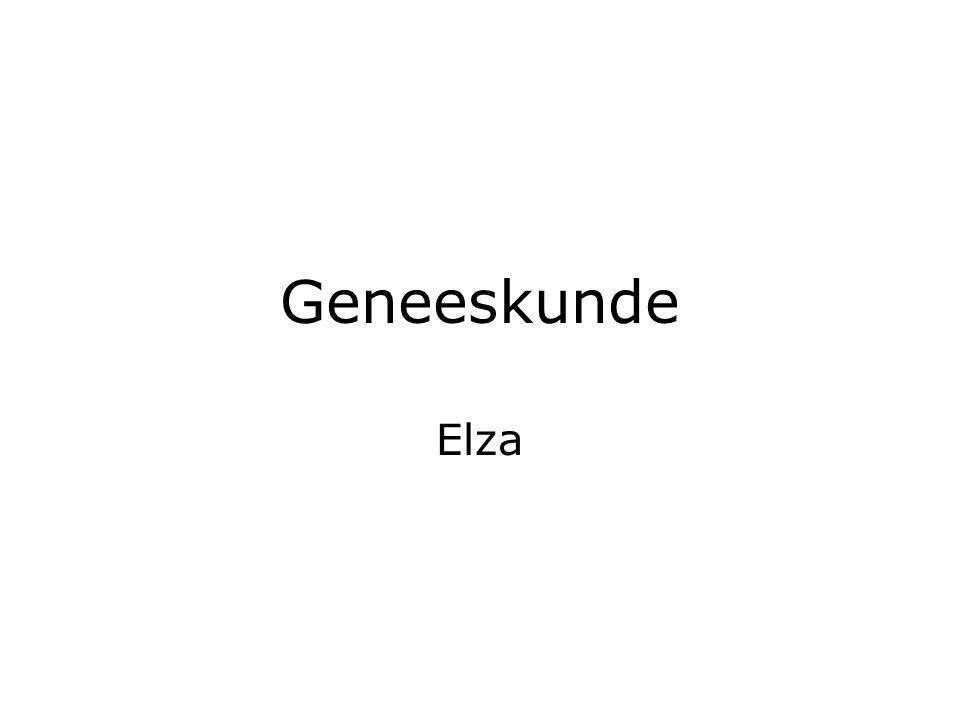 Geneeskunde Elza
