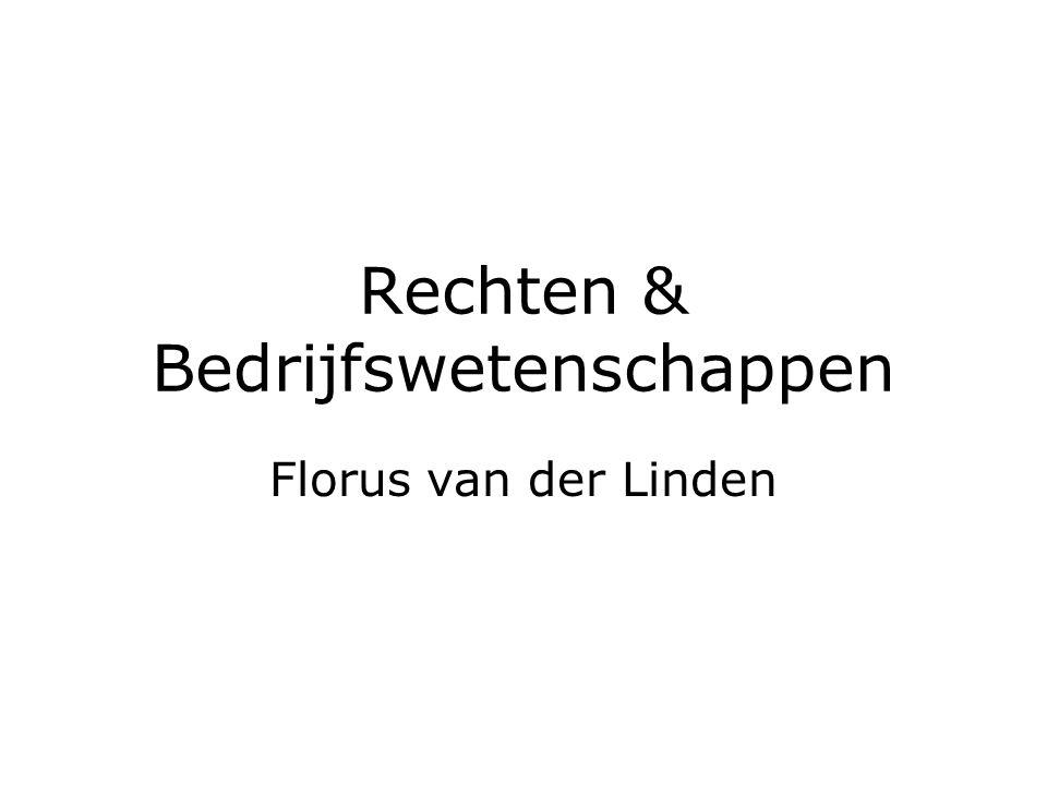 Rechten & Bedrijfswetenschappen Florus van der Linden