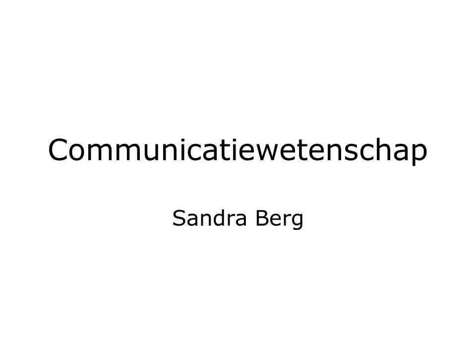 Communicatiewetenschap Sandra Berg