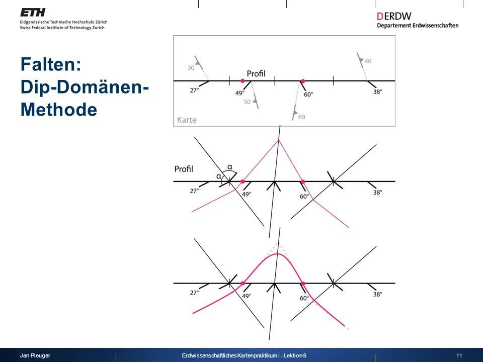 Jan Pleuger11Erdwissenschaftliches Kartenpraktikum I - Lektion 6 Falten: Dip-Domänen- Methode