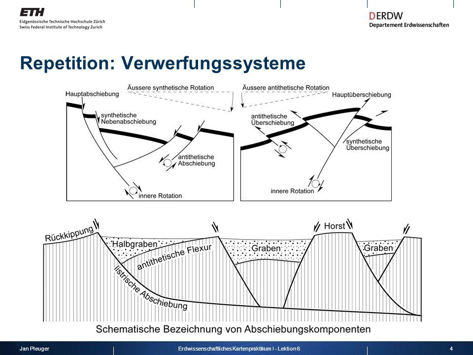 Jan Pleuger4Erdwissenschaftliches Kartenpraktikum I - Lektion 6 Repetition: Verwerfungssysteme