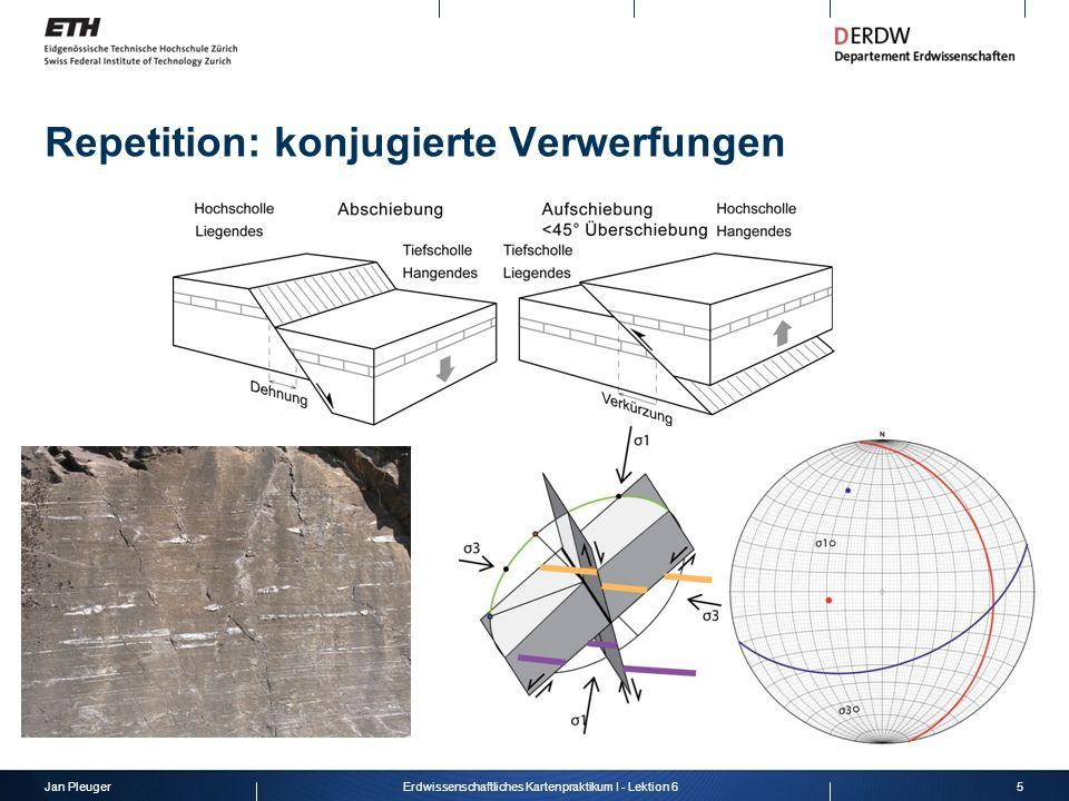 Jan Pleuger5Erdwissenschaftliches Kartenpraktikum I - Lektion 6 Repetition: konjugierte Verwerfungen
