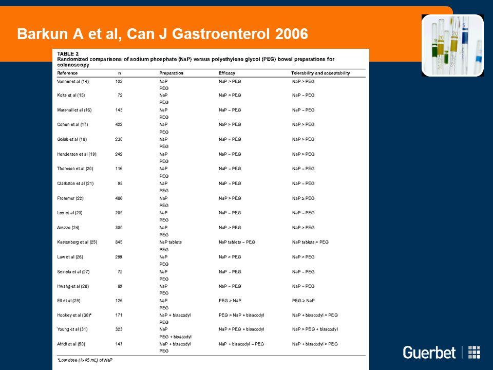 Barkun A et al, Can J Gastroenterol 2006