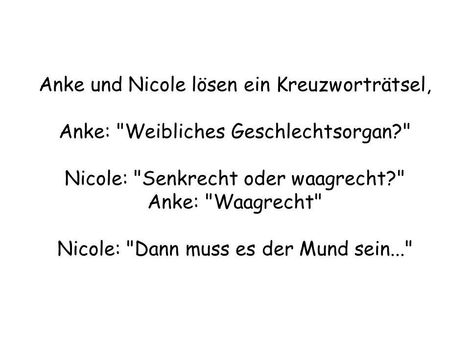 Anke und Nicole lösen ein Kreuzworträtsel, Anke: