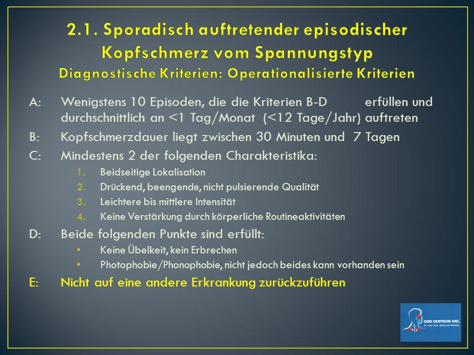 14 Hauptgruppen (ca.270 Kopfschmerzarten, steigend) 2 wesentliche Obergruppen: (plus Gruppe 3) 1.