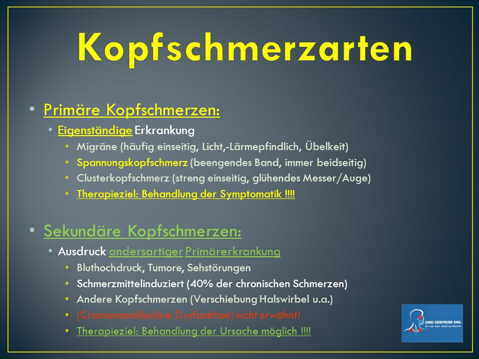 29 Mio.Deutsche leiden an Kopfschmerzen vom Spannungstyp Circa 20 % der Rentenanträge wg.