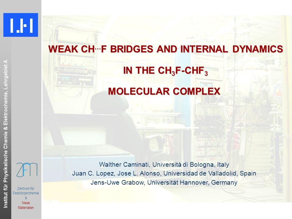 Institut für Physikalische Chemie & Elektrochemie, Lehrgebiet A.ppt Zentrum für Festkörperchemie & Neue Materialien Oxirane-Difluoromethane: Planar Moment P ii = 1/2 (-I ii + I jj + I kk ), i,j,k = a,b,c S.