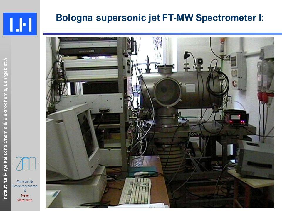 Institut für Physikalische Chemie & Elektrochemie, Lehrgebiet A.ppt Zentrum für Festkörperchemie & Neue Materialien Bologna supersonic jet FT-MW Spectrometer I: