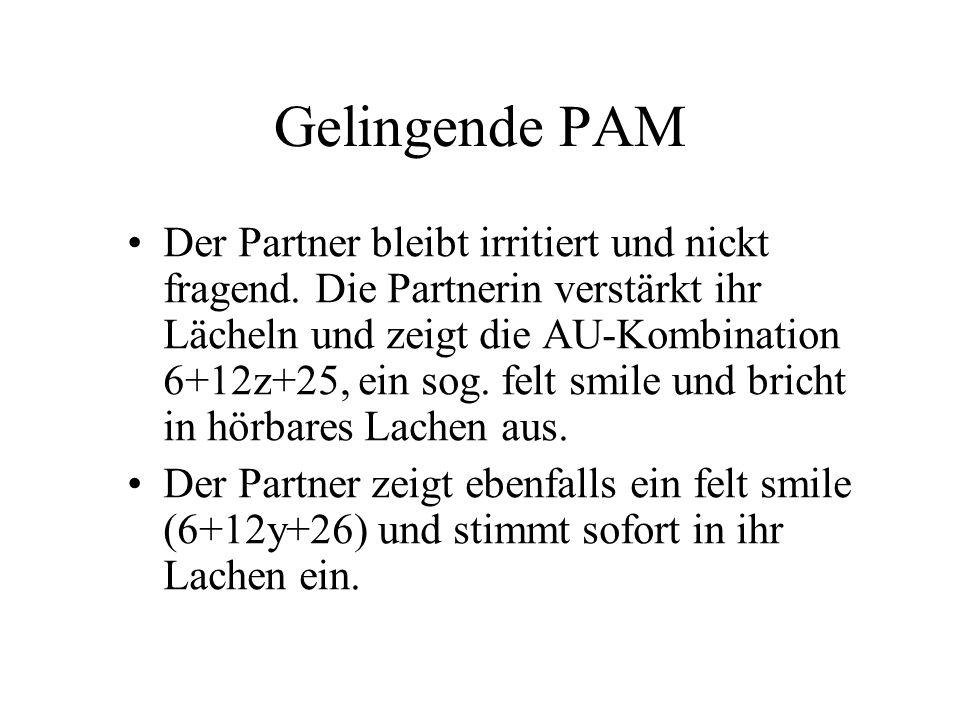 Gelingende PAM Der Partner bleibt irritiert und nickt fragend.