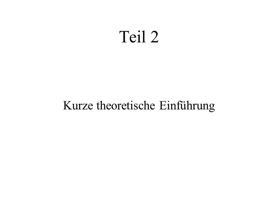 Teil 2 Kurze theoretische Einführung