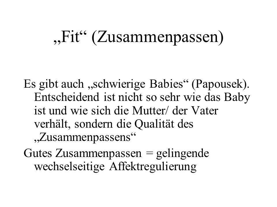 Fit (Zusammenpassen) Es gibt auch schwierige Babies (Papousek).