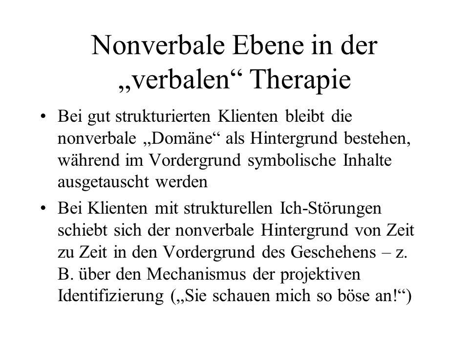 Therapeutische Konsequenz: Setting Gut strukturierte Klienten: können von vielen Settings und Zugängen profitieren (z.