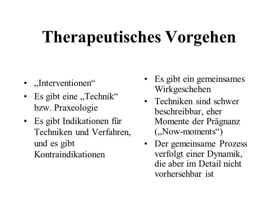 Therapeutisches Vorgehen Interventionen Es gibt eine Technik bzw.