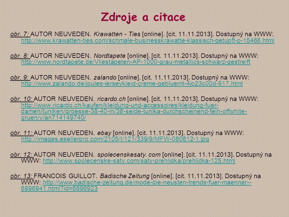 obr. 7: AUTOR NEUVEDEN. Krawatten - Ties [online]. [cit. 11.11.2013]. Dostupný na WWW: http://www.krawatten-ties.com/schmale-businesskrawatte-klassisc