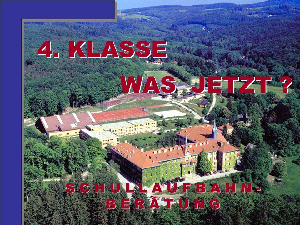 Mag. Neubauer 2006 S C H U L L A U F B A H N - B E R A T U N G 4. KLASSE WAS JETZT ?