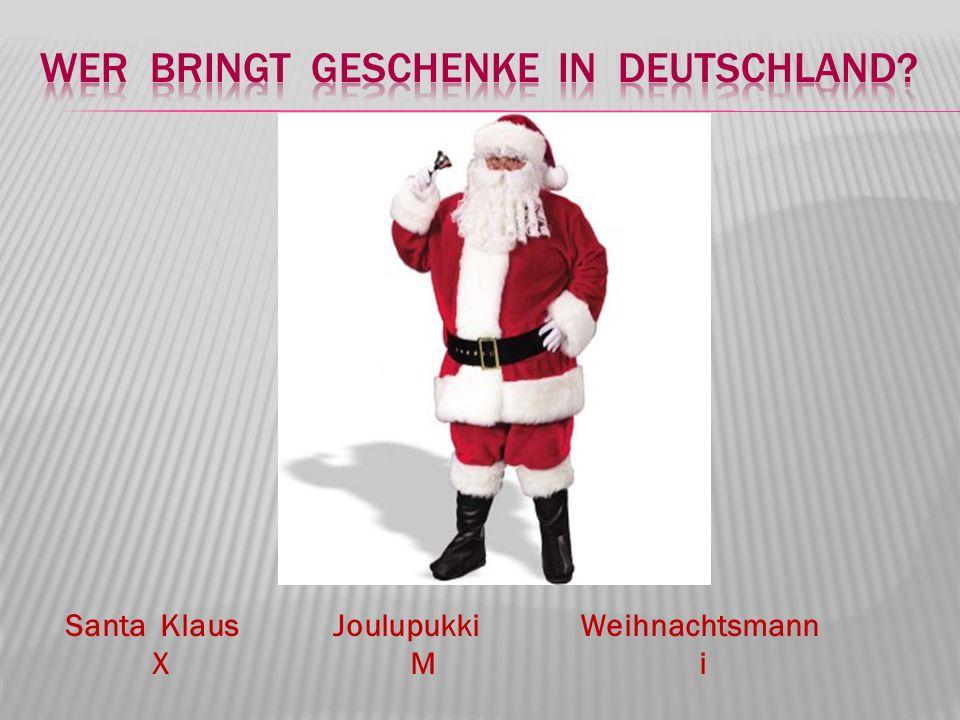 Santa Klaus Joulupukki Weihnachtsmann X M i