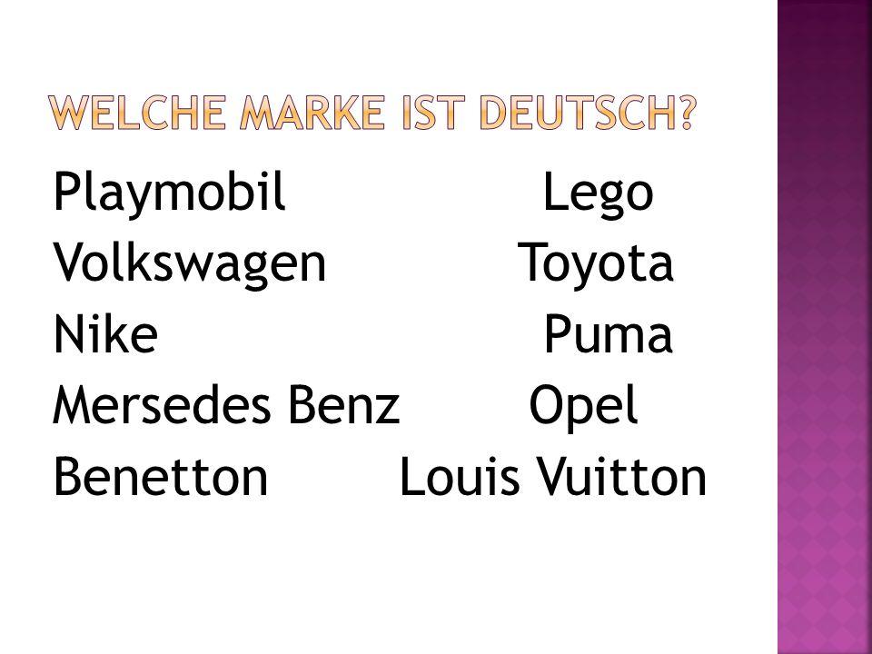 Playmobil Lego Volkswagen Toyota Nike Puma Mersedes Benz Opel Benetton Louis Vuitton