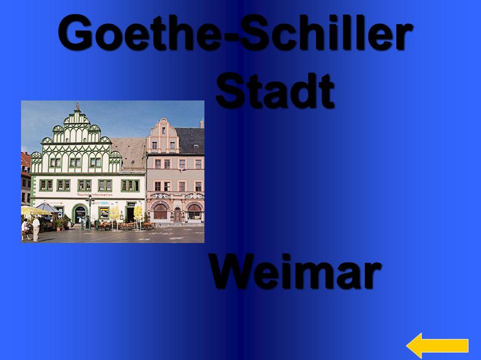 5Goethe-Schiller Stadt Stadt Weimar Weimar