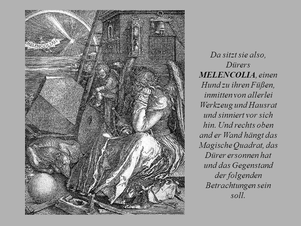 Albrecht Dürer und sein magisches Quadrat Klicke weiter Albrecht Dürer der Jüngere (auch Duerer; * 21.