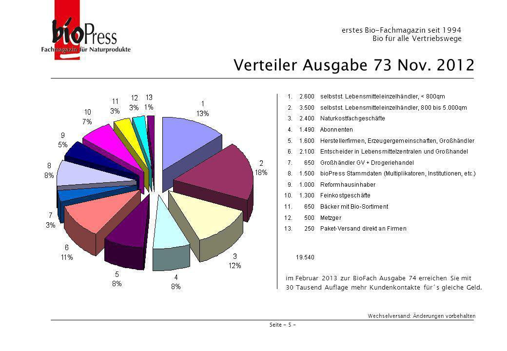 Seite - 6 - Preise und Formate 2012 Beilagen bis 32 g, 190 Euro pro TSD Einhefter auf Anfrage Alle Preisangaben zuzüglich 19 % Mehrwertsteuer.
