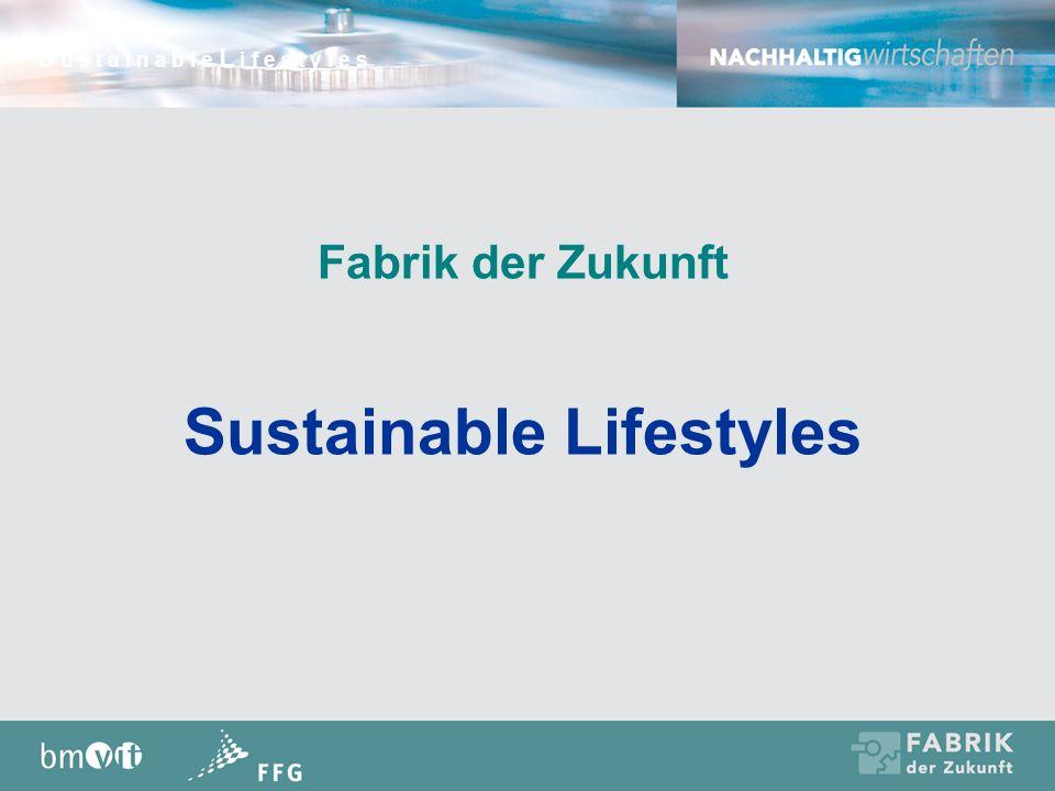 Fabrik der Zukunft Sustainable Lifestyles