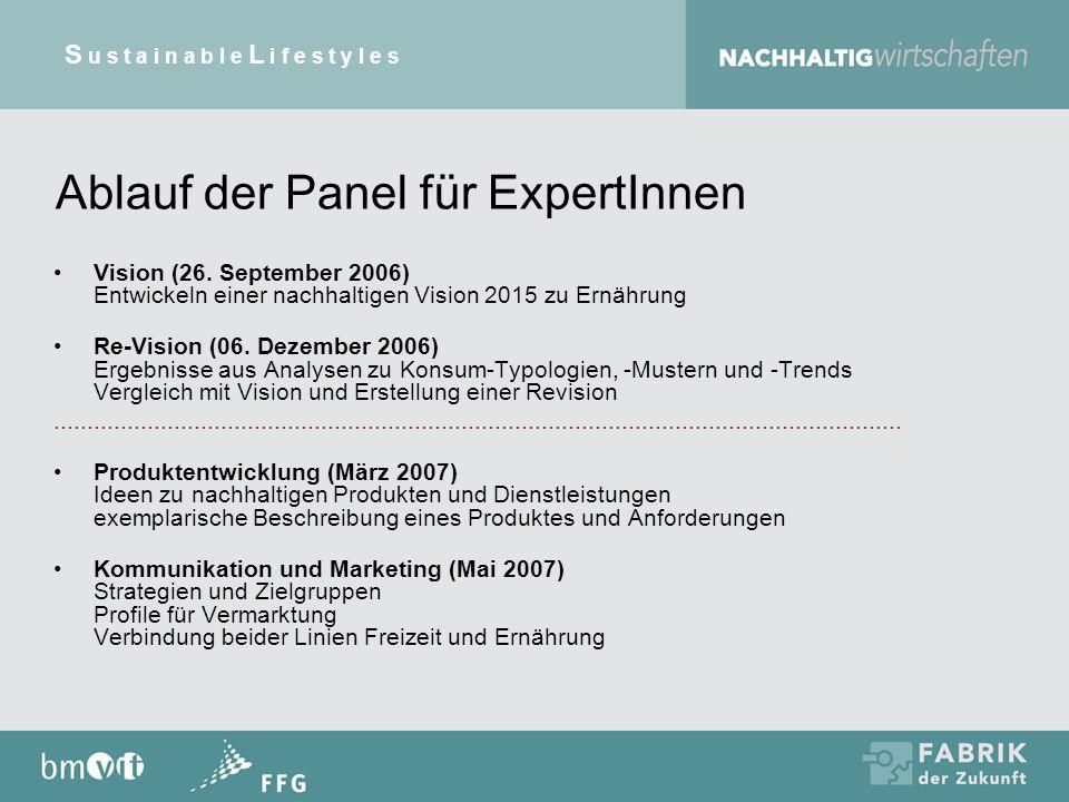 Ablauf der Panel für ExpertInnen Vision (26.