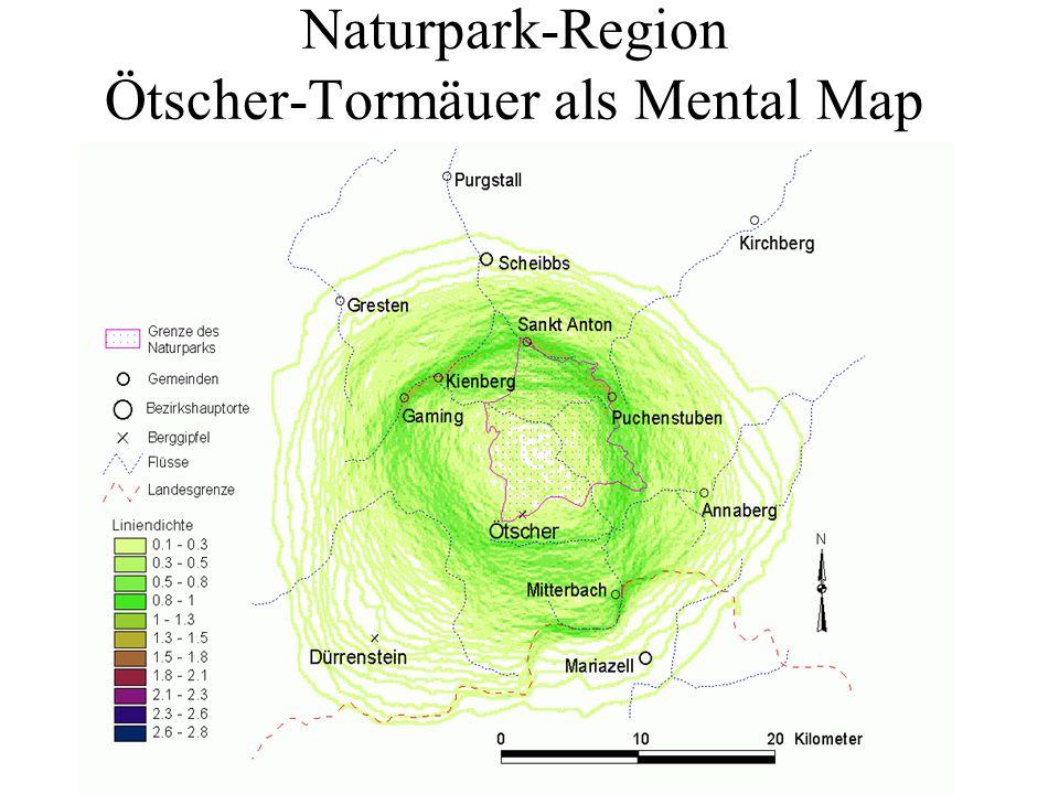 Naturpark-Region Ötscher-Tormäuer als Mental Map