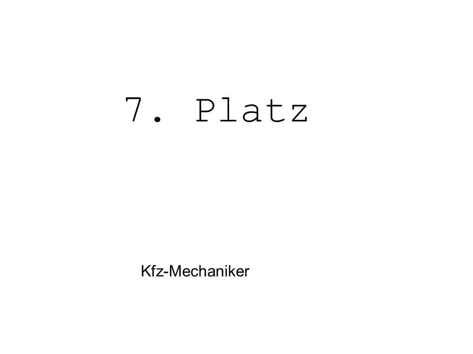 Kfz-Mechaniker 7. Platz