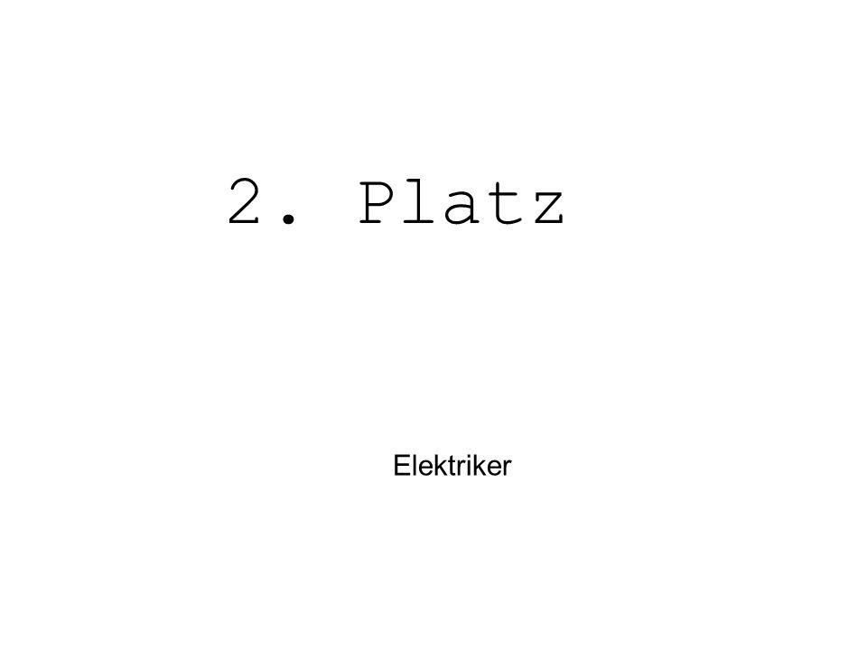 Elektriker 2. Platz