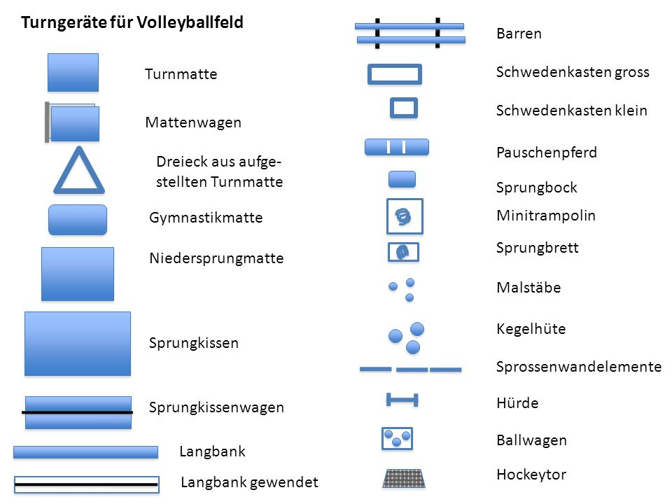 Volleyballfeld 9 Meter