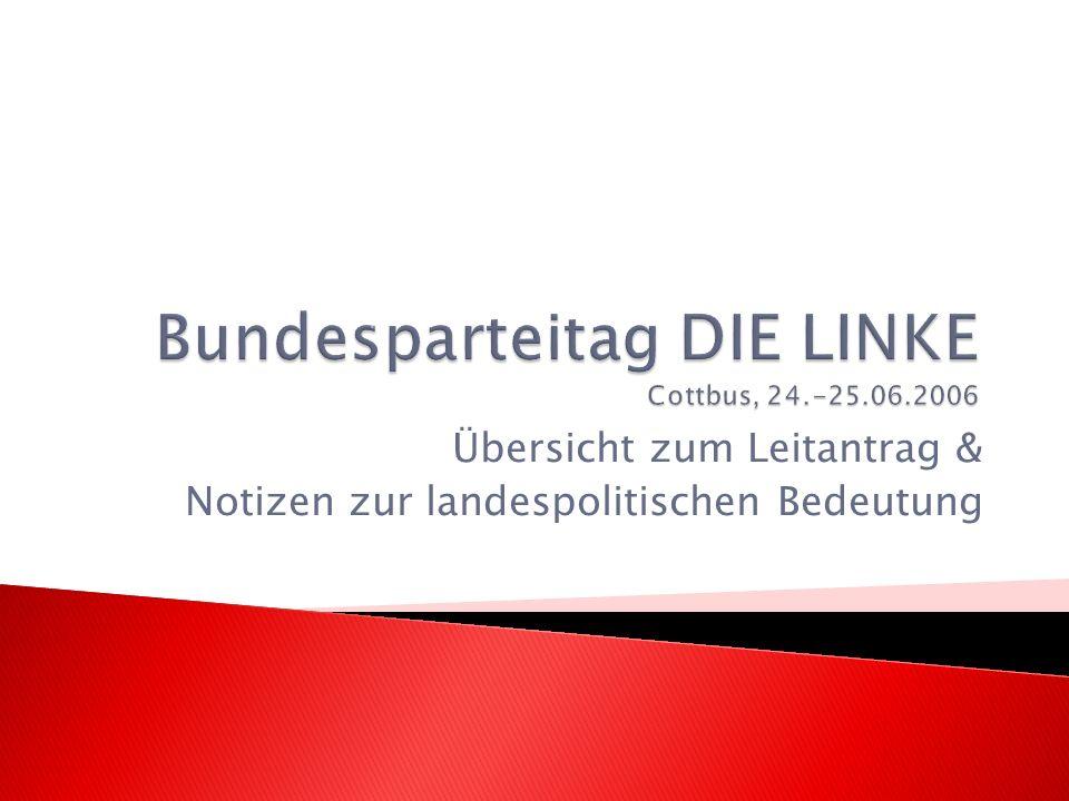 Einleitung: Wahlerfolge – Wahlen 2009 1.Politische Lage: von Rot-Grün zur Großen Koalition 2.