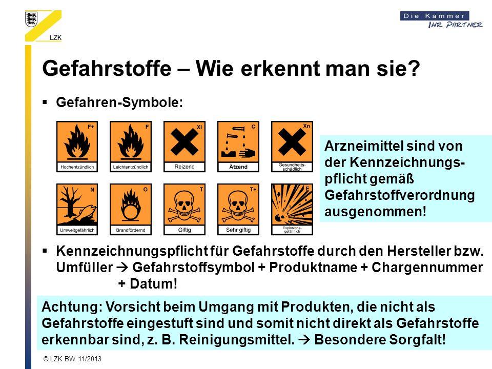 Gefahrstoffe – Wie erkennt man sie? Achtung: Vorsicht beim Umgang mit Produkten, die nicht als Gefahrstoffe eingestuft sind und somit nicht direkt als