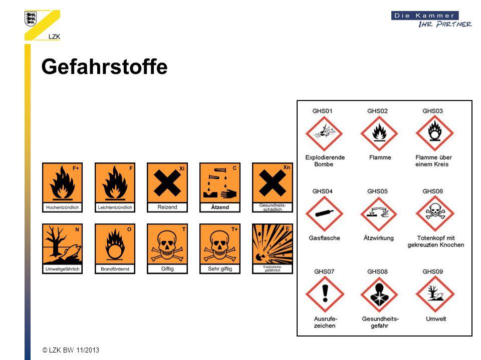 Gefahrstoffe © LZK BW 11/2013