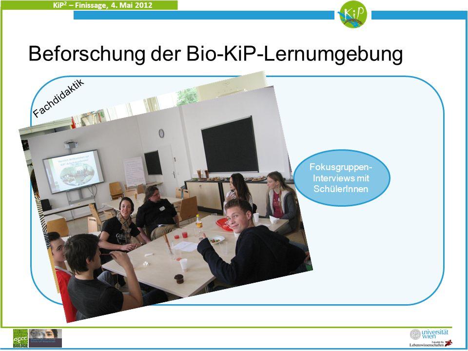 KiP 2 – Finissage, 4.Mai 2012 Der 2-fache Zugang führt zu Spannungen.