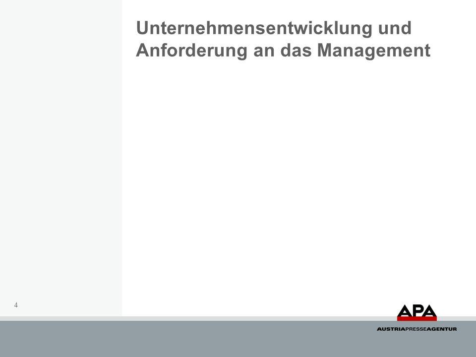 Unternehmensentwicklung und Anforderung an das Management 4