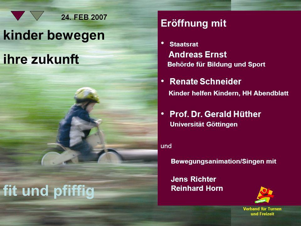 Eröffnung mit Staatsrat Andreas Ernst Behörde für Bildung und Sport Renate Schneider Kinder helfen Kindern, HH Abendblatt Prof. Dr. Gerald Hüther Univ