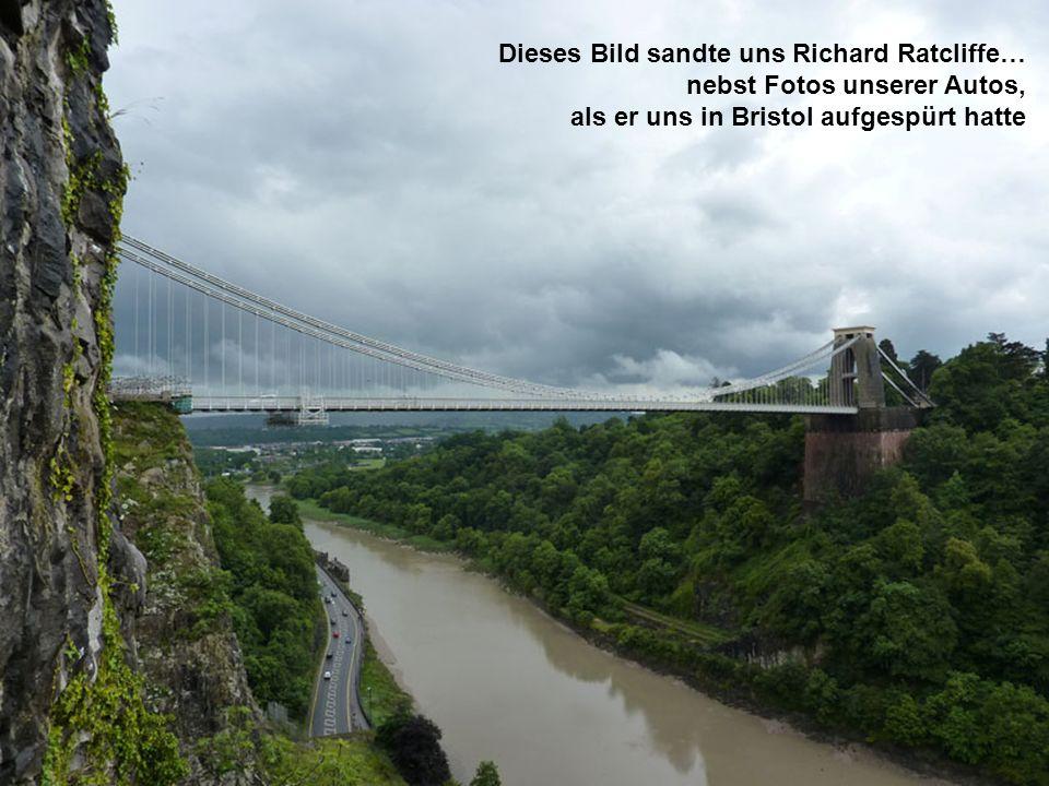 Dieses Bild sandte uns Richard Ratcliffe… nebst Fotos unserer Autos, als er uns in Bristol aufgespürt hatte