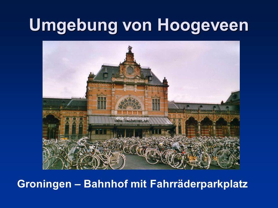 Umgebung von Hoogeveen Groningen – Bahnhof mit Fahrräderparkplatz