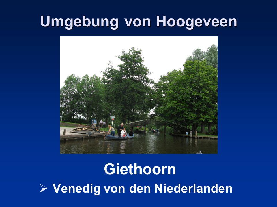 Umgebung von Hoogeveen Giethoorn Venedig von den Niederlanden